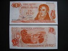 Argentina 1 peso 1970-73 serie e (p287) UNC