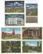 7 Unused Unposted Linen Johnson City Tennessee Postcards
