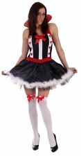 WOMAN SEXY QUEEN OF HEARTS FANCY HALLOWEEN COSTUME SIZE 10-14 LADY