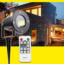 Waterproof Outdoor Christmas Lights Elf Laser Projector Red Green Moving Lights