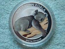 2012 Australian Silver Koala 1 OZ Colorized BU
