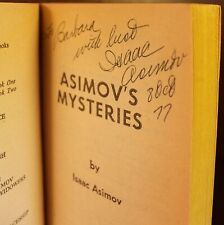 Isaac Asimov Asimov's Mysteries 1968 Signed Science Fiction Thriller