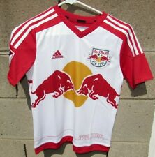Adidas soccer shirt jersey size small medium New York Red Bull MLS kids youth NW