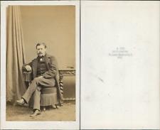 Ken, Paris, portrait d'homme Vintage CDV albumen carte de visite CD