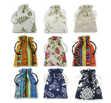 Cotton Linen Gift Bags Jewellery Pouches Drawstring Premium Quality Wholesale