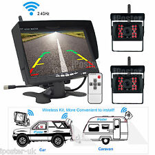 "CAR REAR VIEW KIT for 12V BUS TRUCK 7"" LCD MONITOR+ WIRELESS IR REVERSING CAMERA"