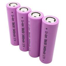 4X 18650 Flat Top 3400mAh High Drain 3.7V Li-ion Rechargeable Battery for Vape