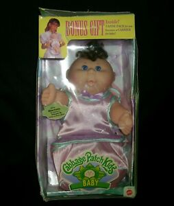 VINTAGE CABBAGE PATCH KIDS BABY CPK 1997 W BONUS FANNY PACK CARRIER DOLL BOX HTF