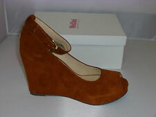 Mollini Heels Style Repeater in Terracotta Suede size 36 NEW - W1-062