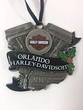 2015 Orlando Harley Davidson Pewter Christmas Holiday Ornament or Pendant