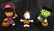 PEANUTS - Lucy Snoopy & Charlie Brown Halloween Figures Trick or Treat - NIB