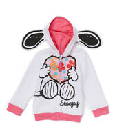 NWT Peanuts Snoopy Toddler Girls Hooded Hoodie Sweater 2T 3T 4T