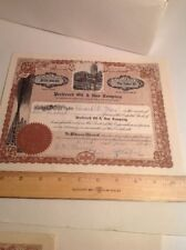 Vintage Oil Stock Certificate Preferred Oil And Gas 1919