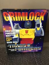 Grimlock Transformers Dinobot Bust Statue Hard Hero (Hasbro 2003) Cold Cast-NEW