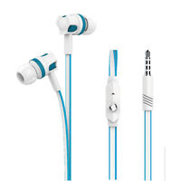 3.5mm With Mic In-Ear Earbuds Bass Stereo Noodle Earphones Headphones Headset
