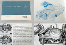 Mercedes Benz 230S W111 Betriebsanleitung 1967 Bedienung Wartung Große Flosse