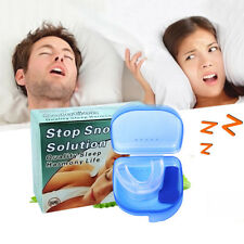 Anti Snore Braces Silicone Snoring Mouth Guard Device Sleep Stop Apnoea Tool