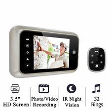 """3.5""""  Screen Electronic Door Bell Viewer IR Night Digital Door Peephole Camera"""