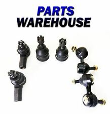 6 Pc Kit 2 Front Ball Joints 2 Outer Tie Rods 2 Sway Bar Links Lifetime Warranty
