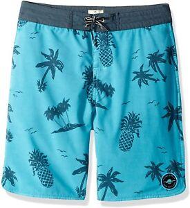 Rip Curl 255721 Kids Boy Poolside Layday Boardshorts Swimwear Teal Size 26