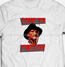 Mens Womens Freddy Krueger White 100% COTTON S-XXXXXL Printed T-shirt Tee Top