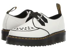 Unisex Shoes Dr. Martens SIDNEY Quad Creepers Leather Oxfords 24994101 WHITE