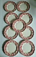 """Johnson Brothers STRAWBERRY FAIR 6.25"""" Bread Plates Set of 9 Made in England"""