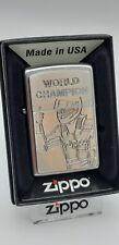 Original Zippo World Champion - 2002949 Platte 2013 - Neu - Sonderposten $$$