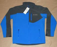 Columbia Men's Prime Peak Softshell Jacket, M Blue/Gray - WindBlock - NWT!