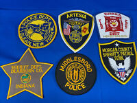 Various State Patches #9 Lot Of 6 Various Departments From United States