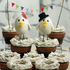 Sweet Tweets Bride and Groom Little Bird Cute Wedding Cake Topper