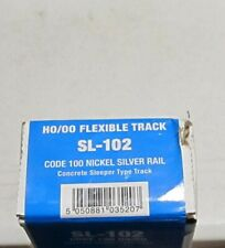 Peco HO Scale SL-102 Code 100 36'' NS Flex Track Concrete Ties 50Pk NEW