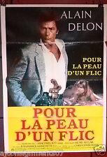 """POUR LA PEAU D'UN FLIC - Alain Delon Org. 40""""x27"""" Lebanese Movie Poster 80s"""