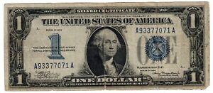 1934 $1 DOLLAR BLUE SEAL FUNNY BACK