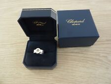 Authentic chopard happy diamond ring size 55 ,18kt gold 14.4 gr