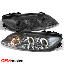 Smoked 2003-2005 Mazda 6 Mazda6 Halo Projector LED Headlights w/Fog Lights LH/RH