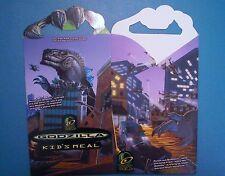 Taco Bell 1998 - Godzilla -  Kids Meal Box