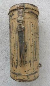 WW2 German gas mask camo cannister Africa tropical  Original