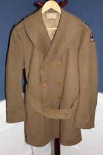 Original WW2 U.S. Army Officers 3/4 Wool Uniform Coat w/Service Patch & Insignia