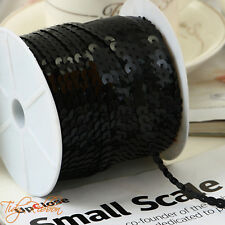 6mm Sequin Trim 2M 5M 10M Round Sequins String Sewing Dance Costume Craft Card