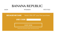 BANANA REPUBLIC 15% off code coupon