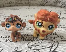 Littlest Pet Shop #944 Yellow Lion Monkey Tattoos Green/Blue Swirl Eyes Safari