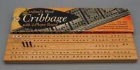 Vintage Cardinal's Wooden Cribbage Board