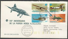 6188 - VENEZUELA 1979 AIR FORCE FDC MAILED 1995 VALENCIA TO VANCOUVR CANADA
