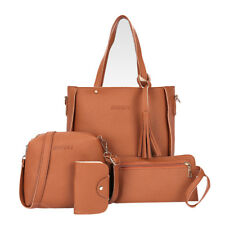 4pcs Women Leather Handbag Shoulder Bag Tote Purse Messenger Satchel Clutch USA