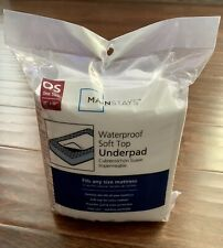 "NEW Mainstays Waterproof Mattress Pad One Size 35"" x 48"" - Free Shipping"