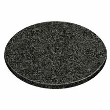 Black Speckled Granite Chopping Board Round Slicing Kitchen Topper Cutting