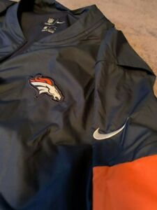 New w/Tags NFL Nike Denver Broncos On-Field Sideline Pull Over Size XL