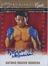 ANTONIO ROGERIO NOGUEIRA 2009 Upper Deck PROMINENT CUTS Autograph AUTO UFC MMA