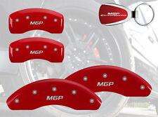 1996-2006 Audi A4 Quattro Logo Red Brake Caliper Covers Front Rear & Keychain